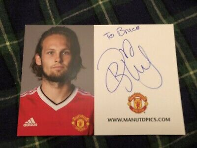 Daley Blind (Manchester United) Signed Club Card