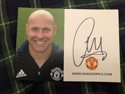 Carlos Lalin (Manchester United) Signed Club Card
