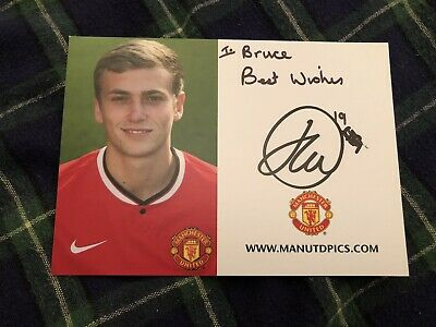 James Wilson (Manchester United) Signed Club Card