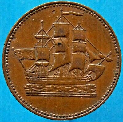 Prince Edward Island Canada Canadian Ships Colonies & Commerce Token PE10-26