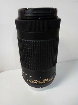 Nikon DX AF-P Nikkor 70-300mm F/4.5-6.3G ED Lens with 2 Caps.