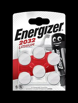 Energizer 6 x CR2032 Lithium Coin Cell 3V Battery DL2032 BR2032 SB-T15 pack of 6