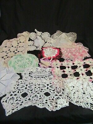 Lot of Assorted Doilies - 16 - Vintage, Shabby Chic, Country - Crocheted