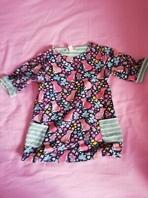 Jojo Maman Bebe fox a Line dress 6-12 Months EUC