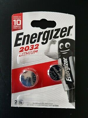 Energizer CR2032 Battery 2032 CR 2032 3V Lithium Button Coin Cell Cell 2 Battery