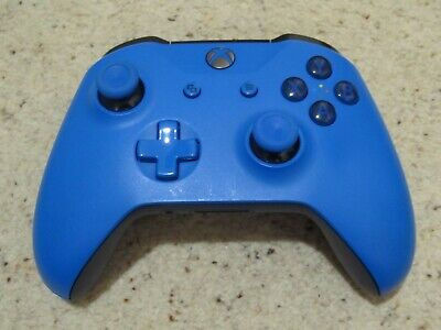Official Microsoft Xbox One S 1708 Wireless Controller Blue & Black