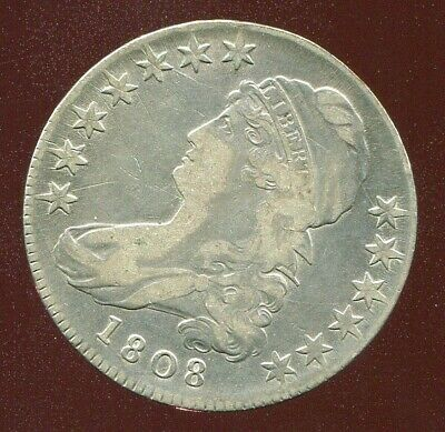 1808 CAPPED BUST HALF DOLLAR very fine VF nice