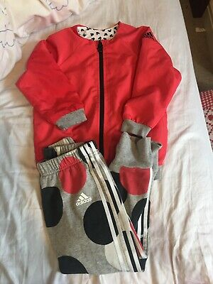 Girls Adidas Mickey Mouse Tracksuit, Reversible Top, Age 3-4