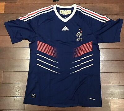 Maillot équipe France foot Adidas Replica 2008 vintage - Taille L neuf