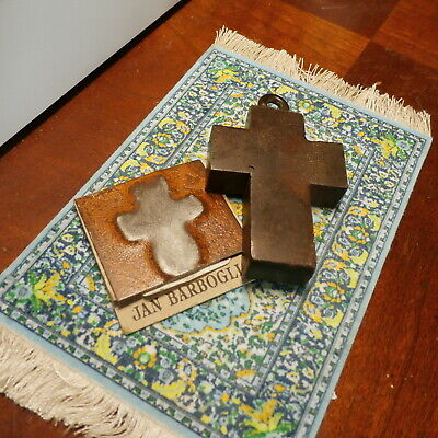 Jan Barboglio House Warming Blessing Handmade Metal Iron Cross with Card