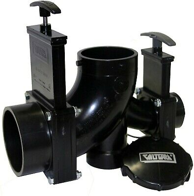 Valterra T80 Rotating Double Ell Waste Valve Assembly Pre-Assembled