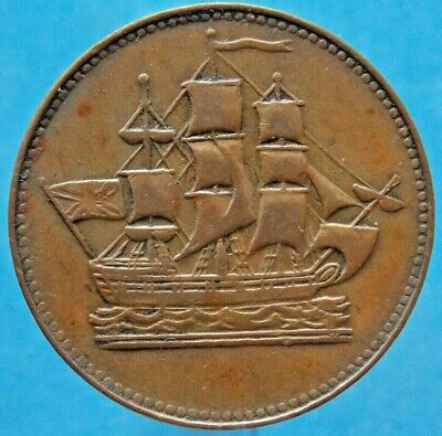 Prince Edward Island Canada Canadian Ships Colonies & Commerce Token PE10-29