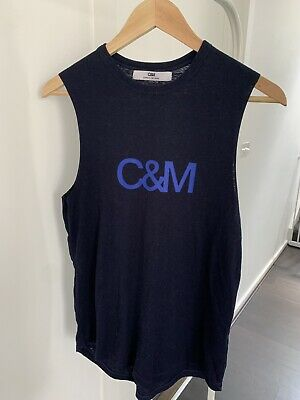 C&M Camilla And Marc Classis Logo Tank Size 6 Navy