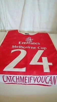 Horse Racing Melbourne Cup Strappers Vest  - CATCHMEIFYOUCAN   VG Cond