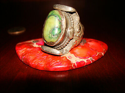 Amazing Antique/Vintage Southwestern Sterling Silver & Turquoise Ring.925 Sz-6