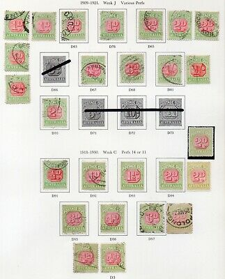Australia Stamps - POSTAGE DUE Page
