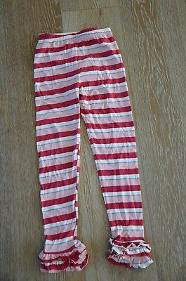 Persnickety Girls Leighton Ruffle Leggings in Stripes Size 7 NWT