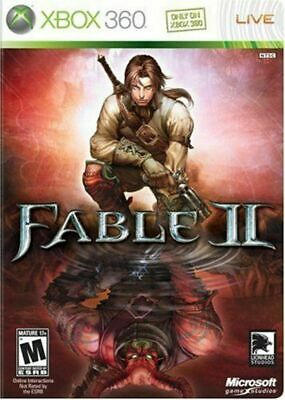 Fable II (Microsoft Xbox 360, 2009) M17+ COMPLETE With 48 HOURS LIVE GOLD Trial