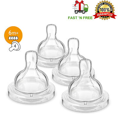 Philips Avent Fast Flow Nipple Anti-Colic 4 Pack 6M+