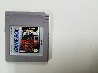 Castlevania Adventure (Authentic)(Nintendo Game Boy Gameboy GB) Contacts Cleaned