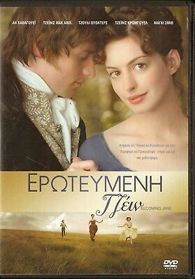 BECOMING JANE Anne Hathaway James McAvoy Julie Walters James Cromwell R2 DVD