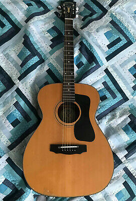 1970'S Suzuki Kiso Acoustic Guitar Steel 6 String Guitar Very Rare