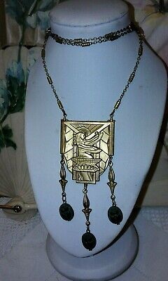 Gorgeous egyptian revival necklace with superb scarabs
