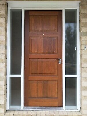 820x2040x40mm Entrance Solid Timber External Front Entry Door - Great Condition!