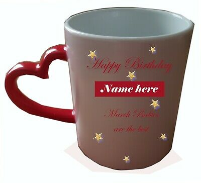 Personalised Birthday Heat Colour Changing Mug. Add a name