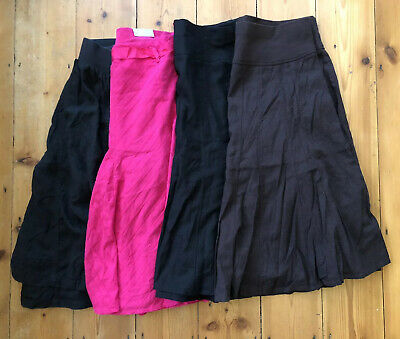 Ladies Maternity Summer Linen Skirt Bundle Size 12