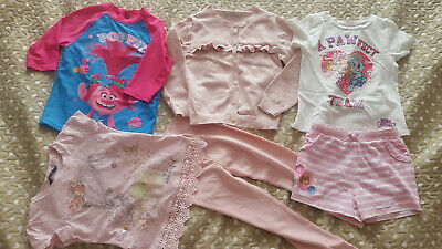 Girls bundle Paw Patrol Trolls tops cardi leggings shorts 5-6 years FREE P&P