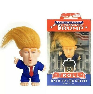 """President Donald Trump Troll Doll """"Hair to the Chief"""" New! Collectible!"""