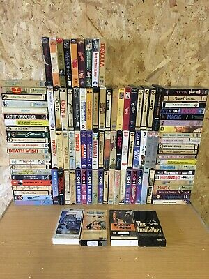 Vintage Vhs Video Collection Cardboard Boxes, Pre Cert, Ex Rental