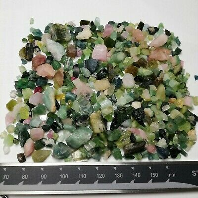 460-Carat Nice Quality Mixed Colour Rough Tourmaline Lot From Afghanistan