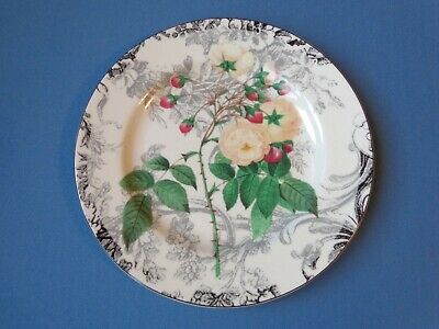 """AMERICAN ATELIER AT HOME peach ROSE TOILE 5232 replacement 8"""" bread dinnerplate"""