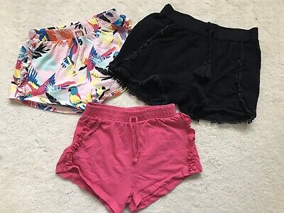 Girls 3 Pairs Of Summer Shorts Age 6 Years From TU And Next