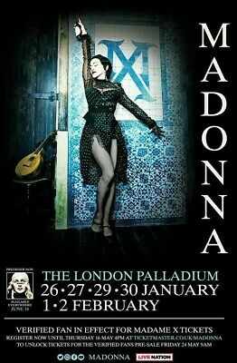 Madonna Madame X Tour Souvenir Fridge Magnet Cancelled London Shows Jan/Feb 2020
