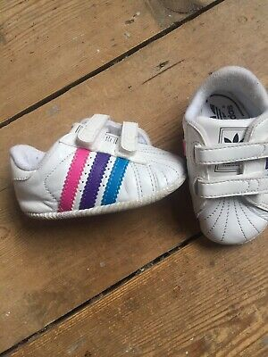 Baby Girls Adidas Trainers Size 1K 0-3 Months