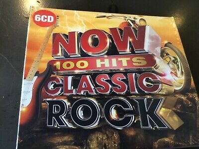 Now 100 Hits Classic Rock - 6 X Cd Set - Def Leppard / Bon Jovi / Europe +