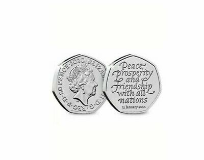4 X 2020 UK BREXIT 50p FIFTY PENCE UNCIRCULATED COIN - OFFICIAL UK ISSUE