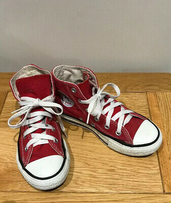 Converse Girls Boys High Top All Star Trainers  Boots Size 12