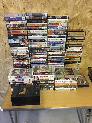 Vhs Video Tape Collection, Some Pre Cert, Ex Rentals Cardboard & Big Box