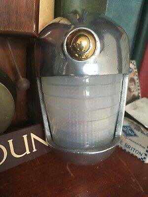 VINTAGE WAITING ROOM DOOR BELL PUSH ENGAGED VACANT INDICATOR LIGHT Wait / Enter