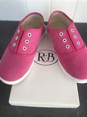 Russell & Bromley Girls Pink BNIB Plimsole : Slip On Pumps Size 12
