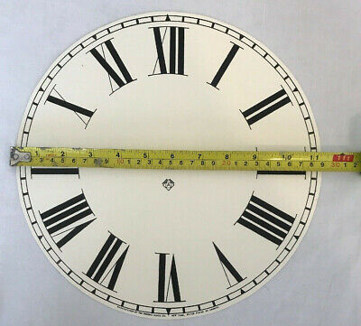 Ansonia of New York 11 inch clock dial in cream paper regulator, drop dial clock