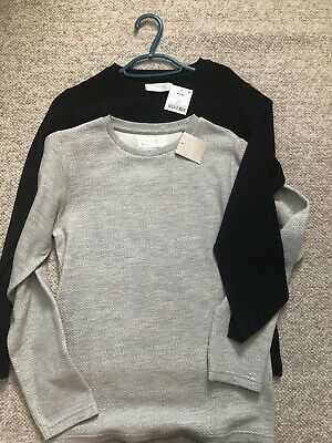 Two Next Boys Tops Age 10 years - Navy & Grey
