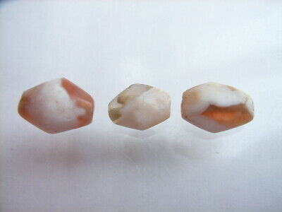 3 Ancient Roman Agate Beads, Romans VERY RARE!  TOP !!