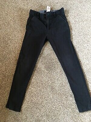 Next Navy Skinny Chino Trousers Age 6