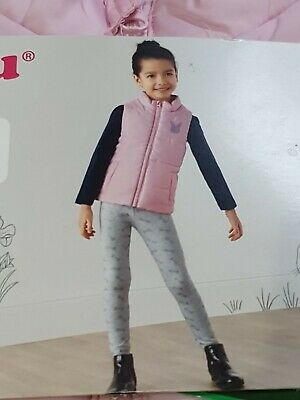 Lupilu Pink Girls Padded Gilet Bodywarmer Jacket 4-5 Years Spring Easter Fashion