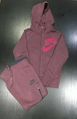Girls Nike Tracksuit Age 10-12 Years Mauve Good Condition
